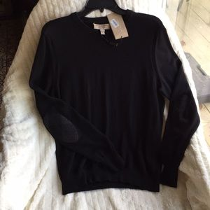Burberry ExtraFineMerinoWool SleeveDetail Sweater